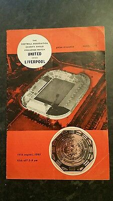 1965 Charity Shield Manchester United v Liverpool  (With Token)