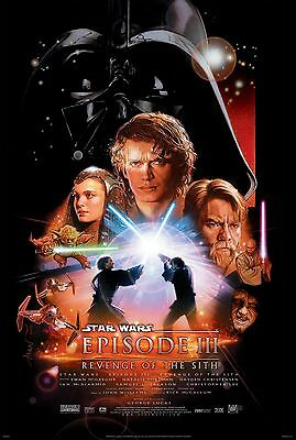 Home Wall Art Print - Vintage Movie Poster - REVENGE OF THE SITH -A4, A3, A2, A1