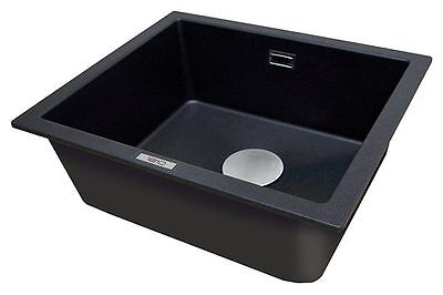 Sink Undermount Single Bowl In Black, Polar White, Grey, Champagne Cavauno  469U