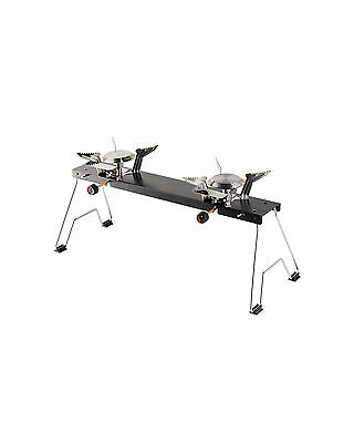 Fishing Camping Folding Stove Cooker Double Burner Travel Cooker & CARRY BAG