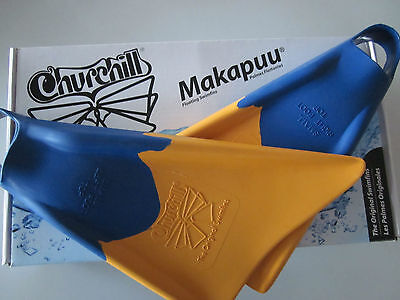 Churchill Makapuu Surf Swim Floating Fins Mens Small S / Us 5 - 6.5 New