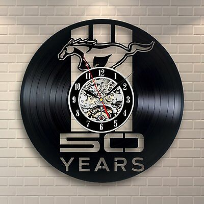 Mustang_Exclusive wall clock made of vinyl record_GIFT