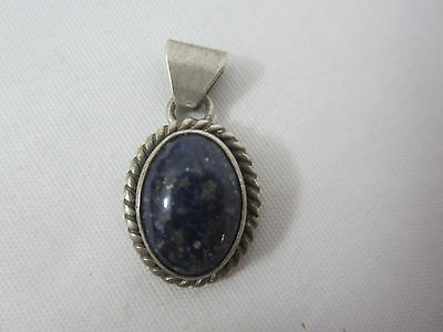 Sterling Silver Necklace Pendant Only Marked Signed Southwest Purple Stone