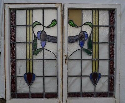 Leaded light stained glass windows. B414a. NATIONWIDE DELIVERY!!!