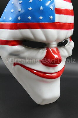 GAME PAYDAY 2 THE HEIST DALLAS MASK HALLOWEEN COSTUME PARTY HORROR PROP Clown