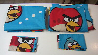 Children's Angry Birds Curtain Panels & Tie-Backs, Each Panel 42 in. x 64 in.