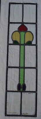 Leaded light stained glass window panel. B266. WORLDWIDE DELIVERY!!!