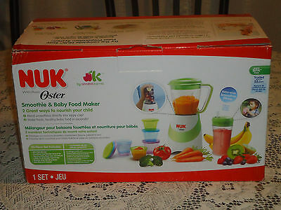 Nuk Oster Smoothie & Baby Food Maker Set Of 20 Pieces