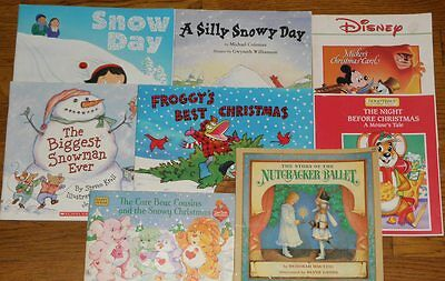 Lot of 8 Paperback Children's Books with Christmas Themes