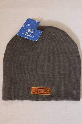 ac7b2def11f New Mens Primos Hunting Beanie Hat Knit Cap Gray One Size Deer Game Call