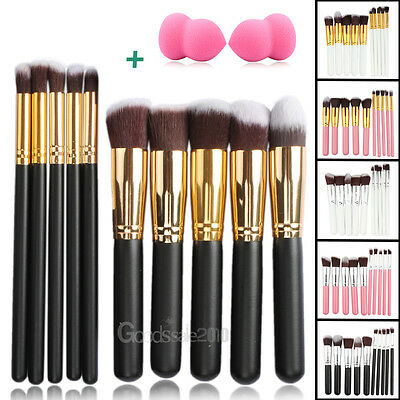 10Pcs Pro Makeup Brushes Set Kit Cosmetic Powder Foundation Eyeshadow Lip Brush