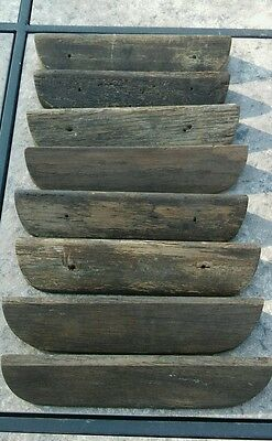 Antique aged wood drawer bin cup pulls (8) CHICAGO history over 100 years old.