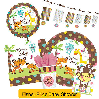 Fisher Price BABY SHOWER Party Range (New Baby Tableware & Decorations) Amscan