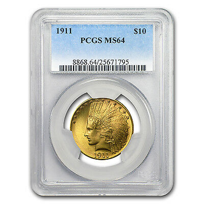 1911 $10 Indian Gold Eagle MS-64 PCGS - SKU #94520