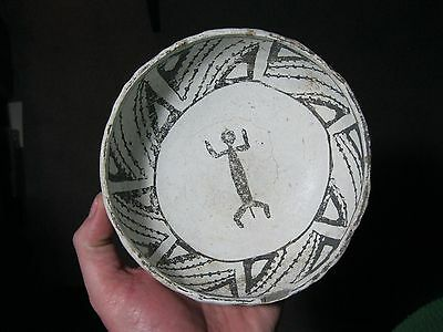 MLC S118 Anasazi Mimbres black on white RESERVE LIFE FORM BOWL 2 COA s Arizona