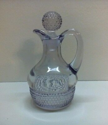 Antique Light Amethyst Cruet Original Glass Stopper