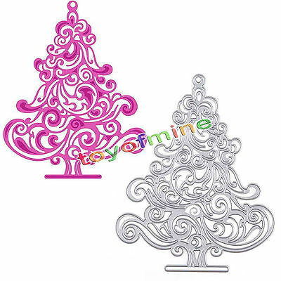 Christmas Tree DIY Cutting Dies Stencil Scrapbooking Album Paper Card Craft Gift