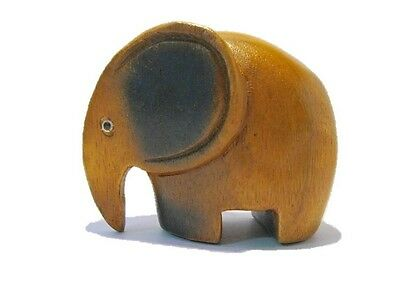 Wooden Elephant Sculpture Wood Carved Figurines Handmade Home Decor Gift