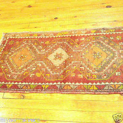 Antique 1920-1930s  Multi-Colored Turkish Tribal 1'6''x2'10''  Wool Pile  Rug