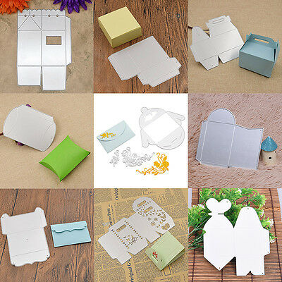 Gift Box Cutting Dies Stencils Scrapbooking Album Embossing Paper Card DIY Craft