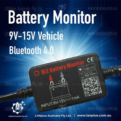 12V Car Battery Monitor via bluetooth 4.0 Voltage Meter Tester w/ auto Alarm