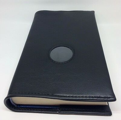 AA Big Book Black Leather Book Cover with Chip Holder