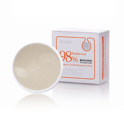 PETITFEE 98% Hydro Gel Collagen Coenzyme Q10 Hydro Gel Essence Eye Patch - 60ea