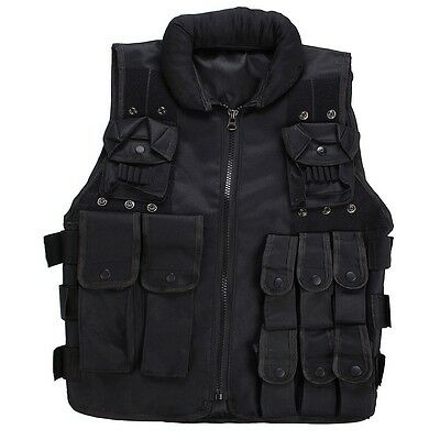 Tactical Vest SWAT Police Ammo Military Airsoft Hunting Combat Assault Carrier