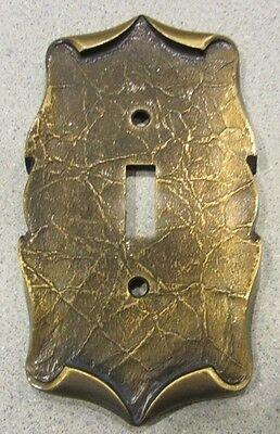 Vtg. Amerock Antique Brass Single Light Switch Plate Cover, Carriage House