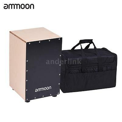 ammoon Wooden Cajon Box Drum Hand Drum Birch Wood with Bag for Adults H9P5