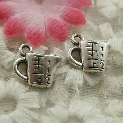 free ship 80 pieces Antique silver cup charms 14x13x4mm #4459