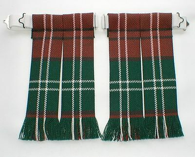 Kilt Hose Sock Flashes Lennox Modern Scottish Tartan Worsted Wool Fringed Kilts