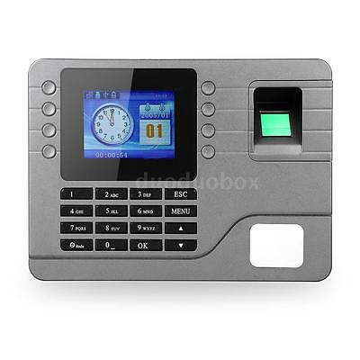 "Biometric Fingerprint Password Attendance Machine 2.8"" LCD Screen+USB Cable S9V5"
