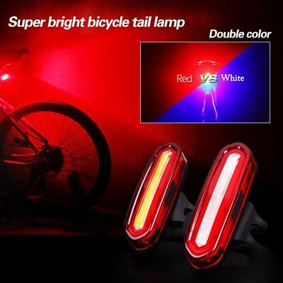 6 Modes USB Rechargeable Rear Bike Tail Light COB LED Bycicle Safety Rear Light