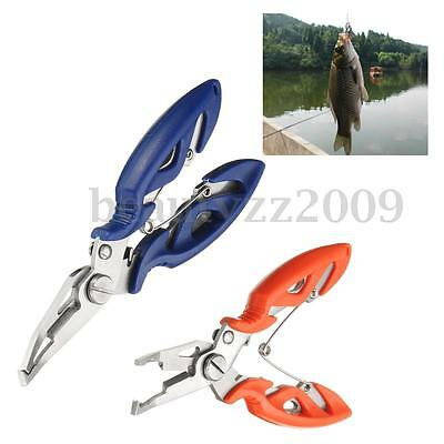 New Fishing Lure Plier Scissors Line Cutter Hook Remover Split Ring Tackle Tool