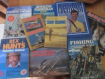 COLLECTION OF vintage FISHING BOOKS,