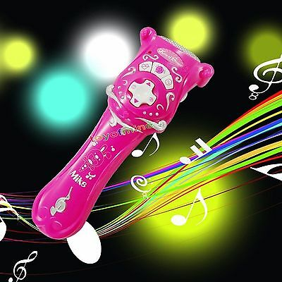 Pink Wireless Microphone Mic Karaoke Music Singing Toy Boys Girls Kids Children