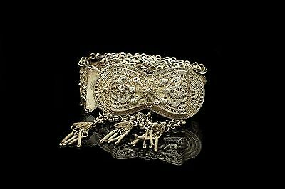 Antique Original Islamic Full Silver Filigree Ottoman Amazing Traditional Belt