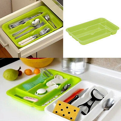 Plastic Compartment Cutlery Tray Organiser Tidy Holder Storage Insert Drawer