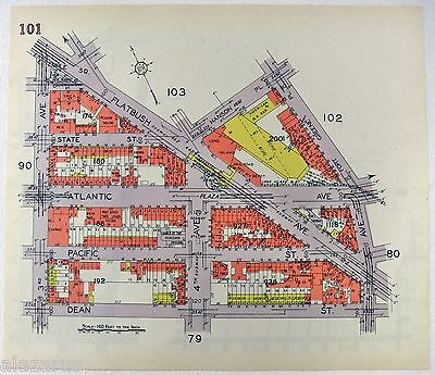 Original 1929 Map of the Northern Part of Park Slope b/w the Brooklyn Navy Yard