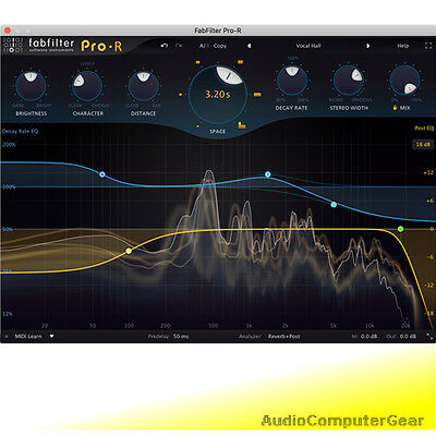 FabFilter PRO-R Reverb Fab Filter Audio Effects Software Plug-in NEW