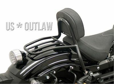 black coated driver backrest with rack for Yamaha Bolt XV950R XV 950 R 2014-16