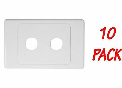 10 x 2 Gang Wall Plate - Electrical Wallplate Empty Switch plate - SAA