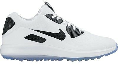 Nike Golf Air Zoom 90 IT, Size UK 10, NEW, White/Black, Spikeless Golf Shoes