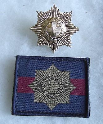 British Household Division Coldstream Guards Anodised Cap Badge, Trf Badge Patch