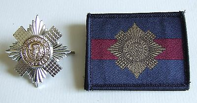 British Household Division Scots Guards Nco Anodised Cap Badge & Trf Badge Patch