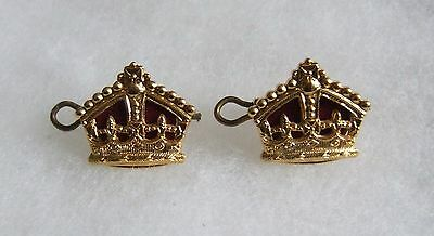 British Army Household Cavalry Majors Special Pattern Rank Crown Pair