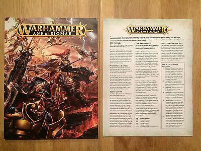 Warhammer - The Age of Sigmar, book and rules sheet from starter set (paperback)