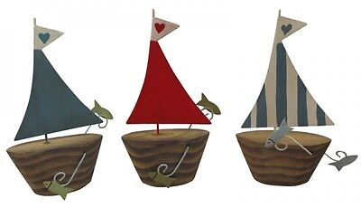 Shoeless Joe Set of 3 Nautical Boat Decorations - Bathroom Decoration