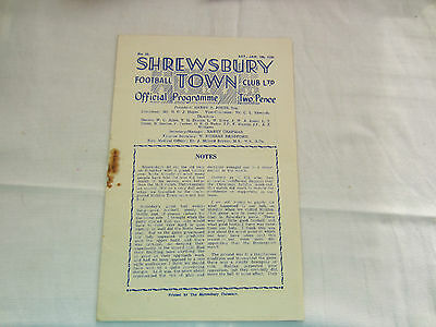 1949-50 MIDLANDS LEAGUE SHREWSBURY TOWN v BRADFORD CITY